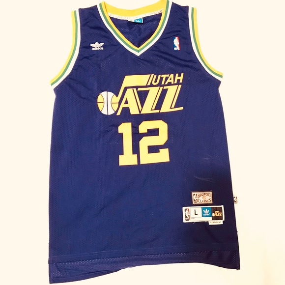 quality design 70957 5de41 Utah Jazz John Stockton Retro Adidas NBA Jersey